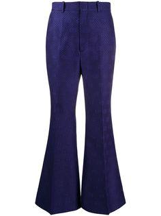 Gucci расклешенные брюки с логотипом GG