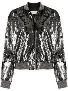Golden Goose куртка на молнии с пайетками