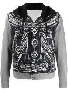 Balmain джинсовая куртка с абстрактным принтом