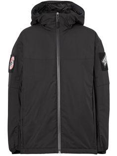 Burberry куртка с капюшоном и логотипом