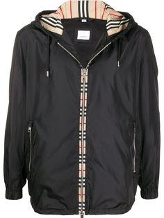 Burberry куртка с капюшоном и отделкой Vintage Check