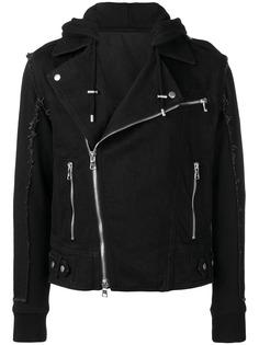 Balmain байкерская куртка с бахромой