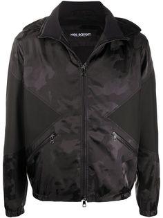 Neil Barrett куртка с капюшоном и камуфляжным принтом
