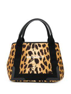 Balenciaga сумка-тоут Cabas S с леопардовым принтом