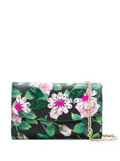 Dolce & Gabbana клатч Tropical Rose с кристаллами