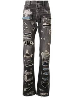 UNRAVEL PROJECT джинсы в технике пэчворк