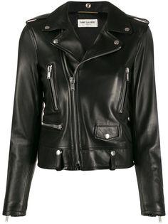 Saint Laurent приталенная байкерская куртка
