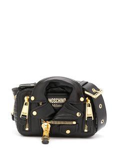 Moschino поясная сумка в виде байкерской куртки