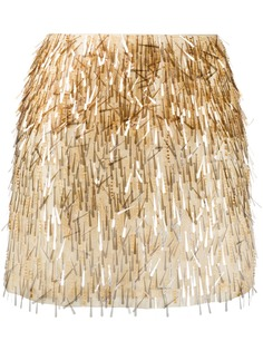 Alberta Ferretti юбка мини с вышивкой