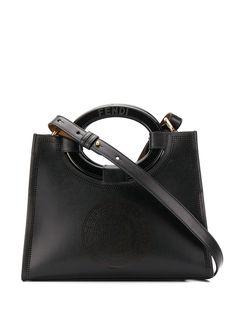 Fendi сумка-тоут с перфорированным логотипом