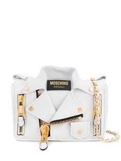 Moschino сумка через плечо в виде байкерской куртки
