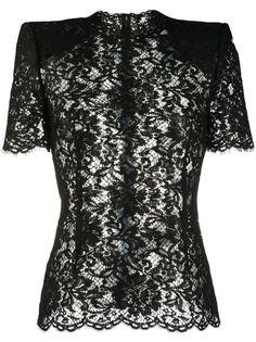 Dolce & Gabbana кружевная блузка с короткими рукавами