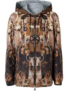 Burberry двусторонняя куртка с капюшоном и принтом