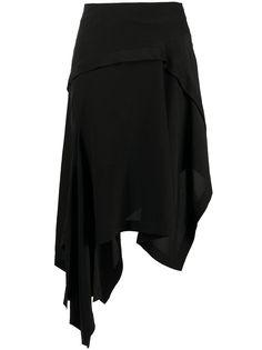 LANVIN юбка с асимметричным подолом