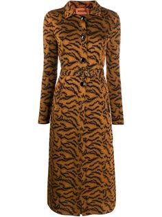Missoni пальто с анималистичным принтом и поясом
