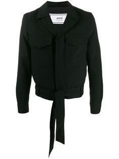 AMI укороченная куртка с завязками