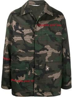 Valentino камуфляжная куртка с принтом