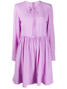 Stella McCartney платье-трапеция с завязками на воротнике