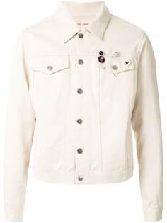 Raf Simons джинсовая куртка со значками