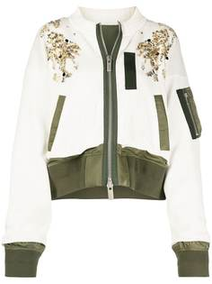 Sacai куртка на молнии с пайетками