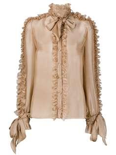 Dolce & Gabbana блузка с бантом и оборками