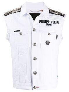 Philipp Plein джинсовая куртка без рукавов