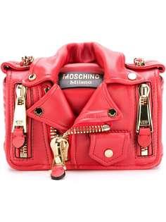 Moschino сумка через плечо в байкерском стиле