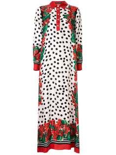 Dolce & Gabbana длинное платье в горох