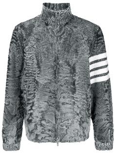 Thom Browne меховая куртка с 4 полосками