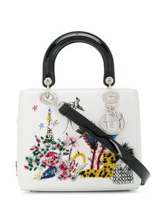 Christian Dior сумка Lady Dior среднего размера