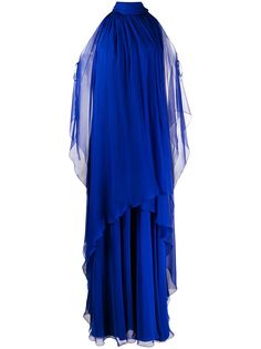 Alberta Ferretti многослойное платье с вырезами