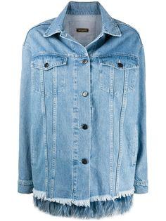 Simonetta Ravizza джинсовая куртка с перьями