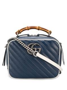Gucci сумка-тоут с верхней ручкой и металлическим логотипом