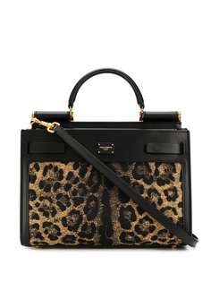 Dolce & Gabbana сумка-тоут Sicily 62 с леопардовым принтом