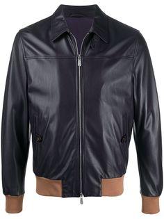 Eleventy куртка с контрастной отделкой