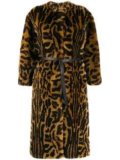 Givenchy шуба из искусственного меха с леопардовым принтом