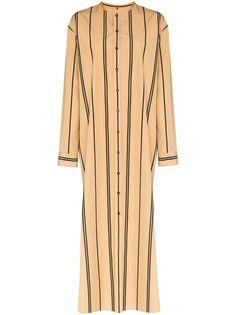 Jil Sander платье-рубашка длины макси в полоску