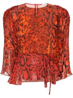 Preen By Thornton Bregazzi блузка Delma со змеиным принтом