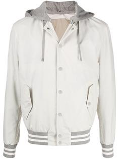 Eleventy куртка с капюшоном и полосками