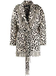 Alanui трикотажное пальто с геометричным узором