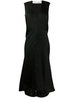 Off-White платье асимметричного кроя с логотипом