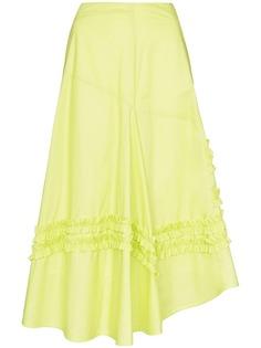 Molly Goddard юбка миди А-силуэта с оборками