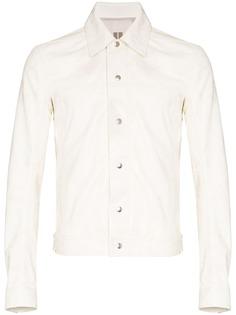 Rick Owens кожаная куртка Worker на кнопках