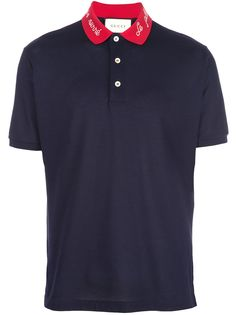 Gucci рубашка поло с контрастным воротником