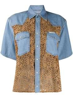 Forte Dei Marmi Couture джинсовая рубашка с кружевными вставками