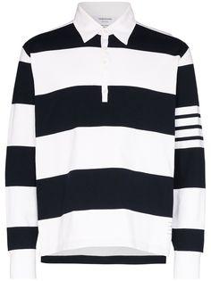 Thom Browne рубашка-поло в полоску