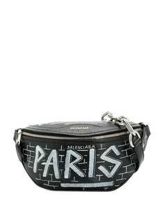 Balenciaga поясная сумка Souvenir с принятом граффити