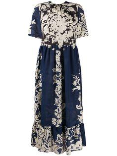 RedValentino платье миди с цветочным принтом