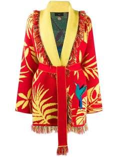 Alanui жаккардовый кардиган-пальто Parrot