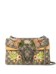 Gucci сумка Dionysus с узором GG Supreme и цветочным декором